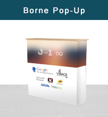 Borne d'accueil pop up