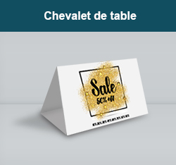 impression chevalets de table