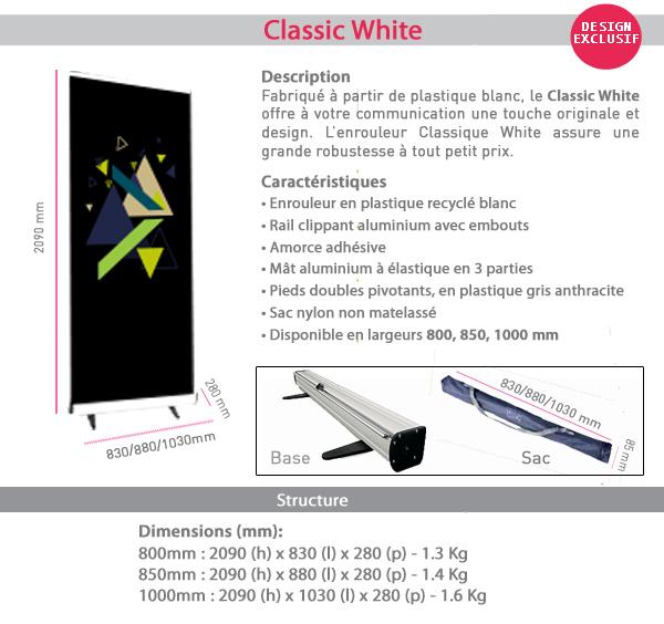 Enrouleur Classic White