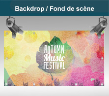 Backdrop/ Fond de scéne