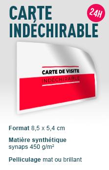 Cartes De Visite Premium Carte Synthetique Indechirable