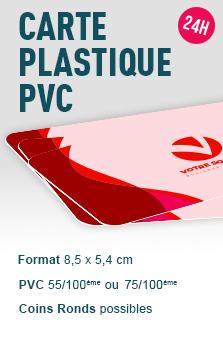 Carte plastique PVC