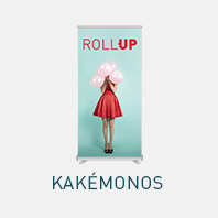 kakemono et roll up