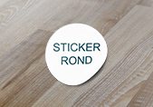 impression de sticker rond