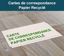 Carte de correspondance Recyclé