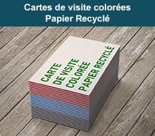 carte de visite avec tranche colorée
