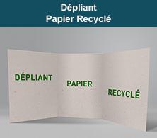 Dépliant recyclé