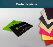 Papier de création : carte de visite