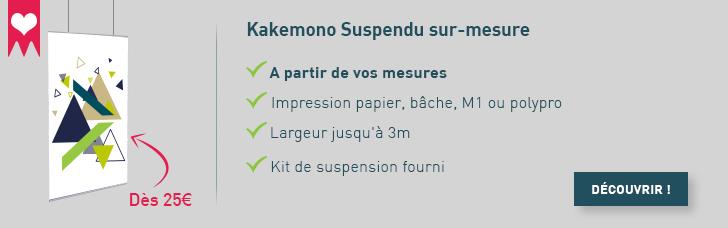 kakemono suspendu sur mesure
