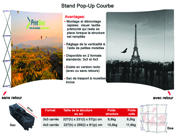 Stand Pop-Up Courbe