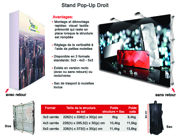 Stand Pop-Up Droit