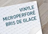 Vinyle Microperforé Bris de glace