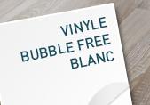 Adhesif bubble free blanc