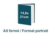 brochure spirale A5 portrait