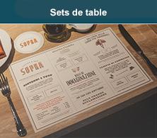 sets de table restaurant
