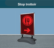 stop trottoir restaurant