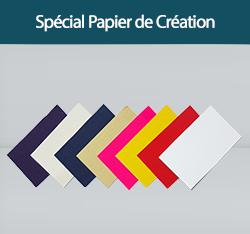 impression cartes de voeux sur papiers de création