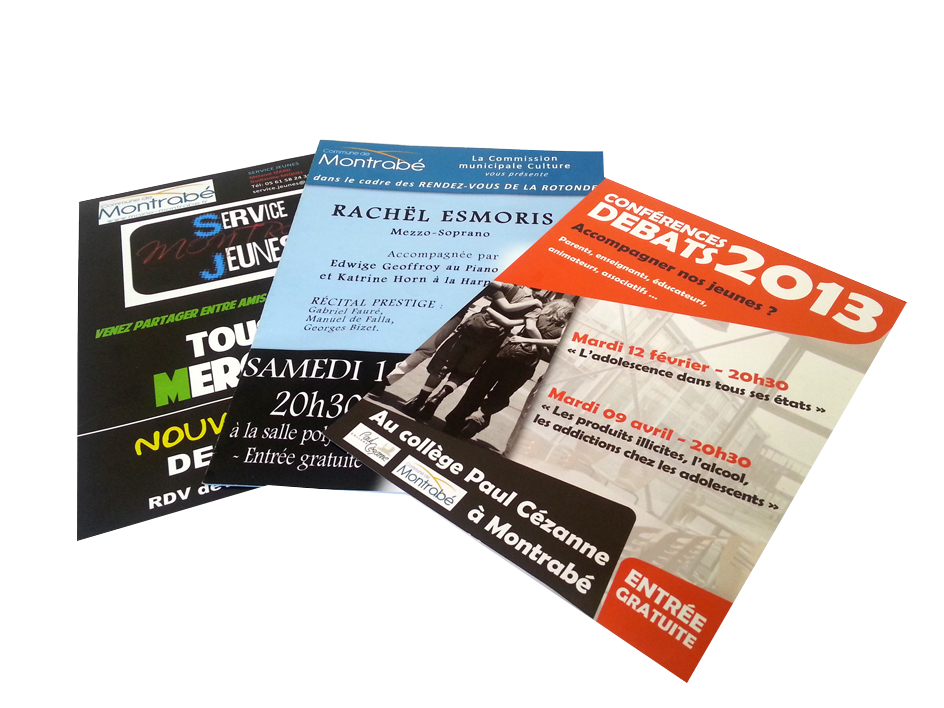 impression flyers mairie