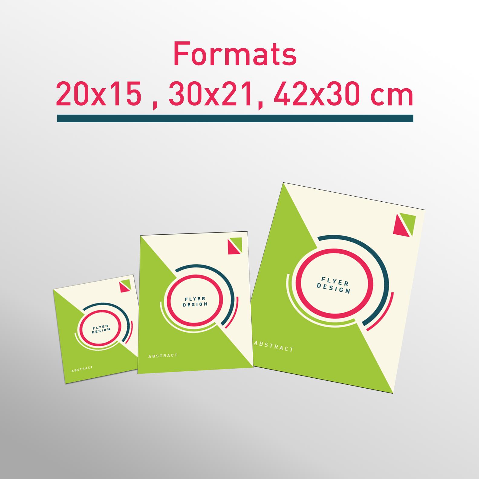 Les formats flyers A5 -A4 -A3