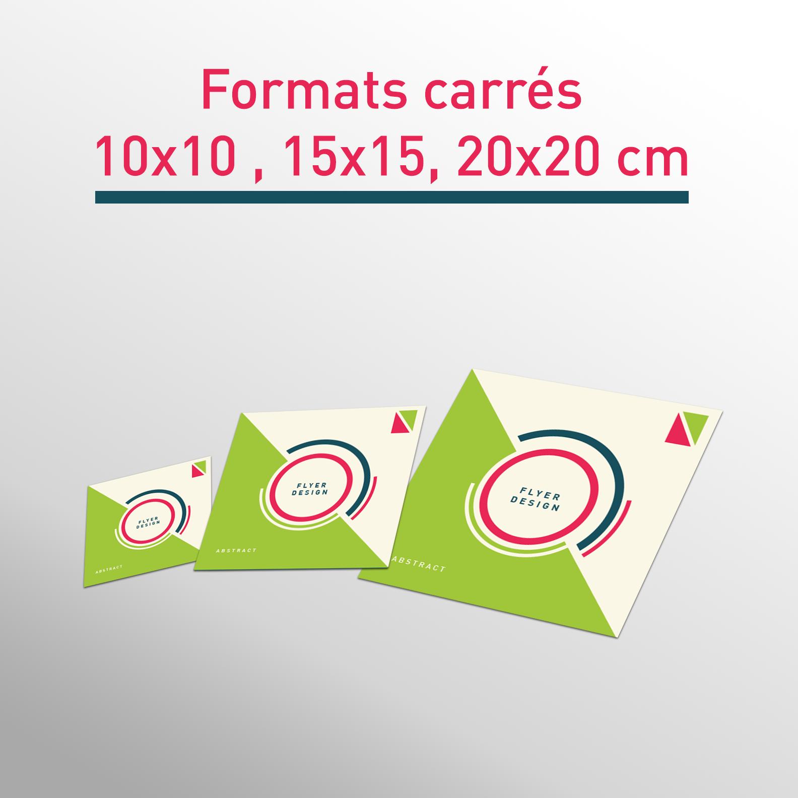 Les formats flyers carrés