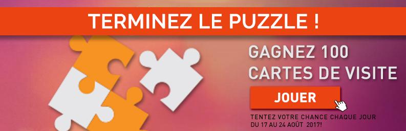 Puzzle 100 Carte de Visite à gagner