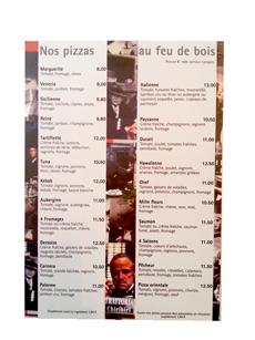 carte restaurant pelliculage