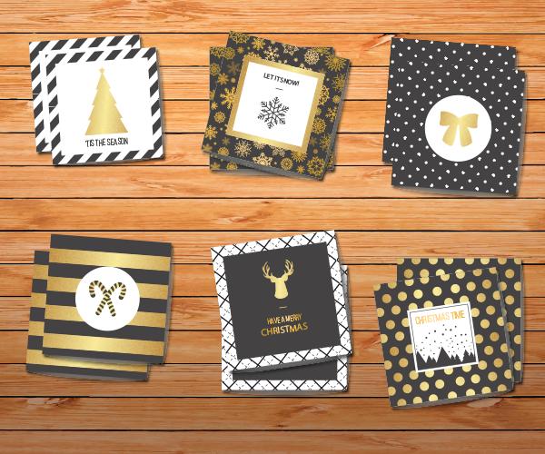 mini carte de vœux carrée