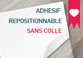 Adhesif repositionnable sans colle
